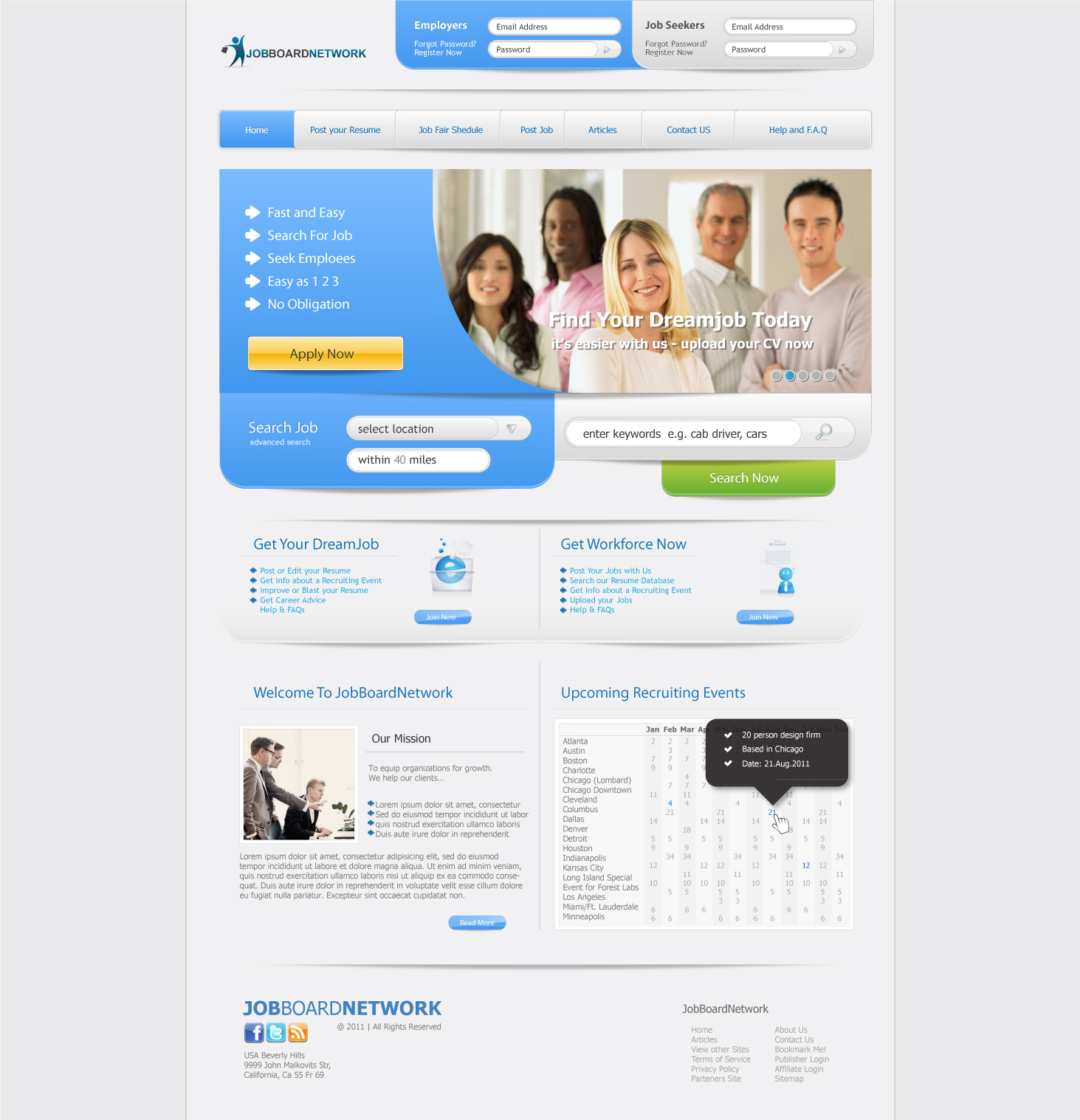 job board community website design services job board website design services