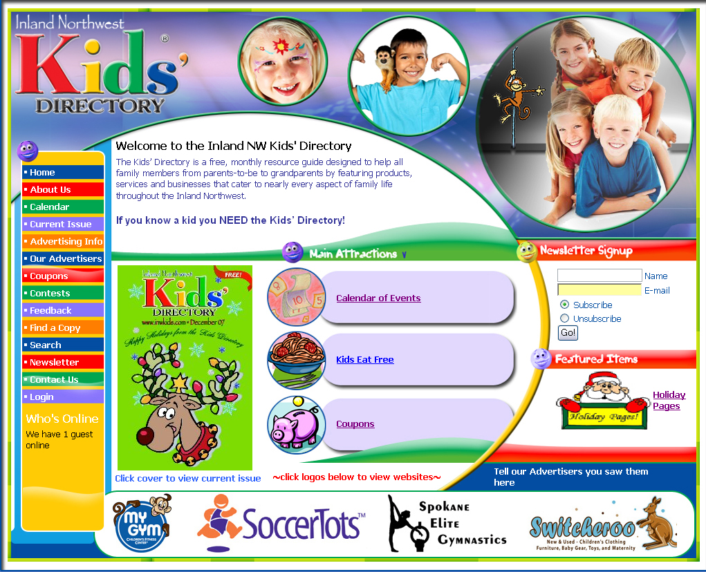 kids and directory website design services