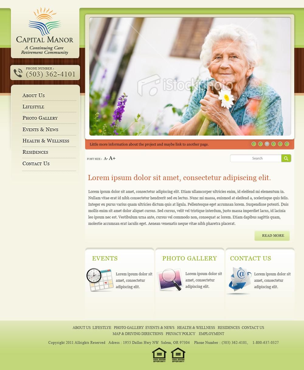 Senior Retirement Home, Village, Community Living Website